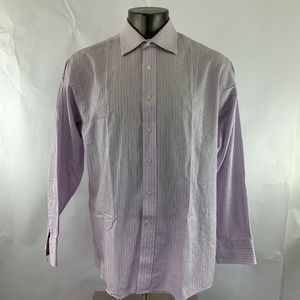 Michael Kors Shirt Button Down Front Striped
